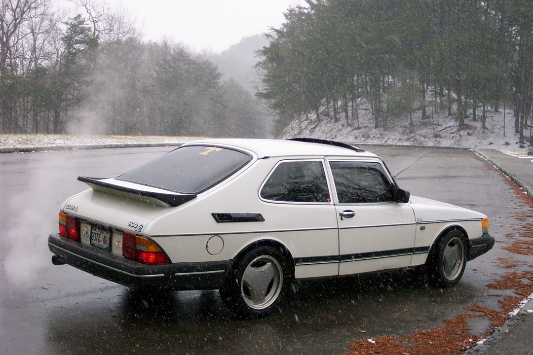 Saab 900 Turbo 1990 White 3-dörrar